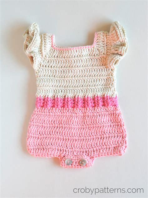 pink pattern romper croby patterns crochet baby romper pattern pink