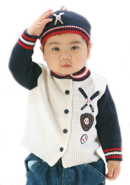 knitting pattern baseball sweater baseball knit kids cardigan sweater