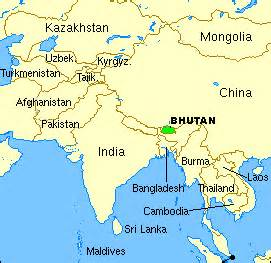 Bhutan World Map by Where Is Bhutan Located On The World Map