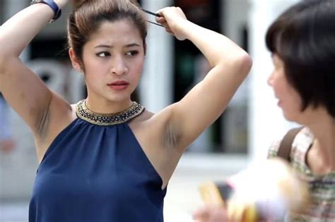hair armpit olderwomen pictures nivea slammed for ad about s porean woman with dark