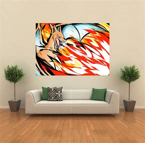 giant printable wall art charizard pokemon andy warhol style pop giant wall poster