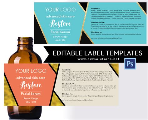 Serum Label Template Id18 Aiwsolutions Perfume Label Design Templates