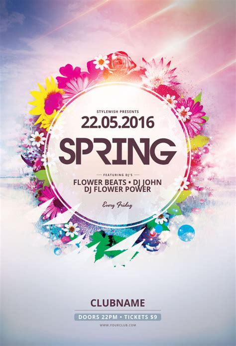 spring flyer template by stylewish on deviantart