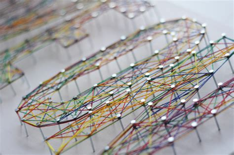 Typographic String - diy typographic string artworks shelterness