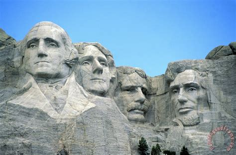 american school mount rushmore painting mount rushmore print for sale
