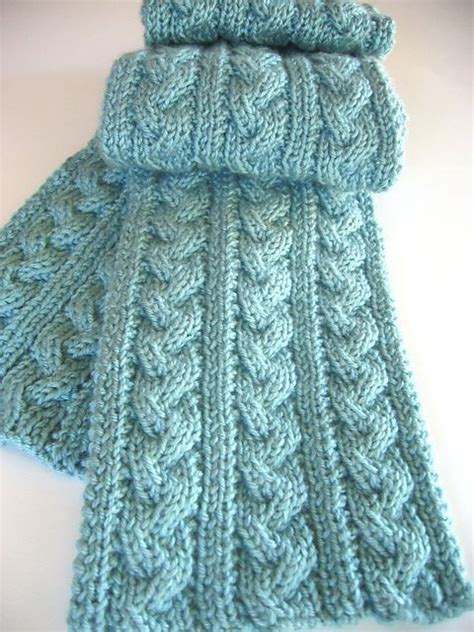 Cable Knit Scarf Pattern Beginner