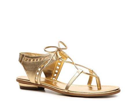 gold sandals dsw bandolino fimay flat sandal dsw