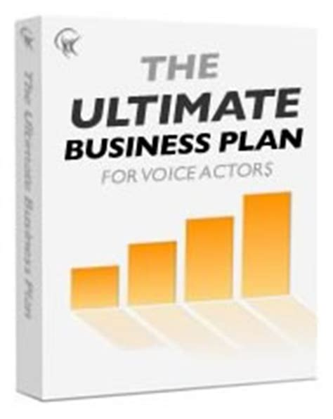ultimate business plan template the ultimate business plan for voice talent vox daily