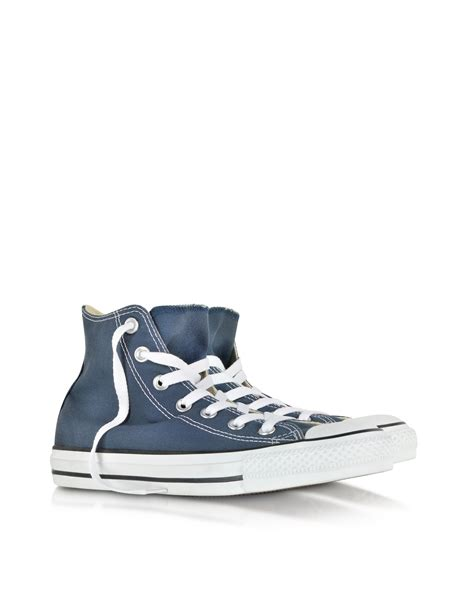 Canvas High Top Sneakers lyst converse all navy blue canvas high top sneaker