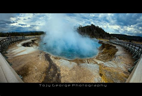 yellowstone n p excelsior geyser excelsior geyser crater yellowstone national park