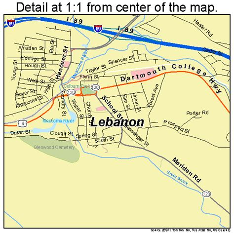lebanon new hshire lebanon new hshire street map 3341300