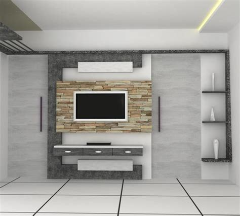 Led Tv Wall Mount Design Service In Vadodara Interior Design Tv Wall Mounting
