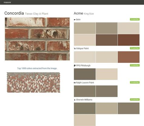 concordia clay a plant king size acme behr