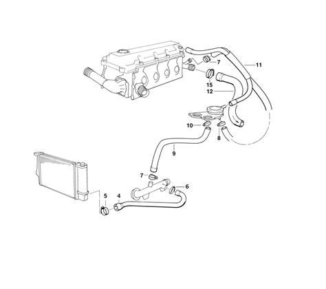 bmw e46 cooling system diagram bmw genuine cooling system water hose pipe e36 e46 11531247398