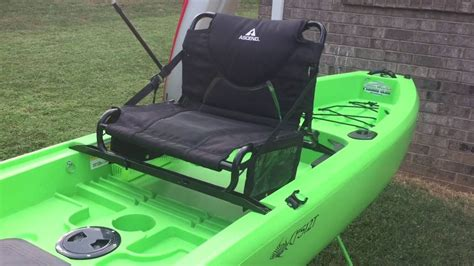 kayak raised seat ascend fs12t seat raise with gear pouches