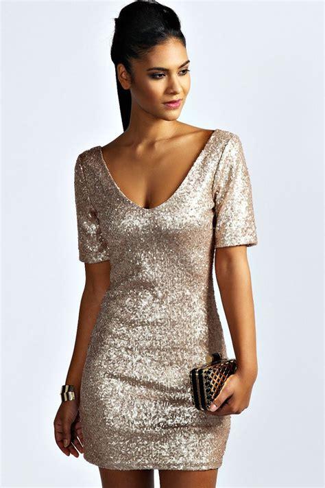 hollie sequin sleeve bodycon dress sleeve gold