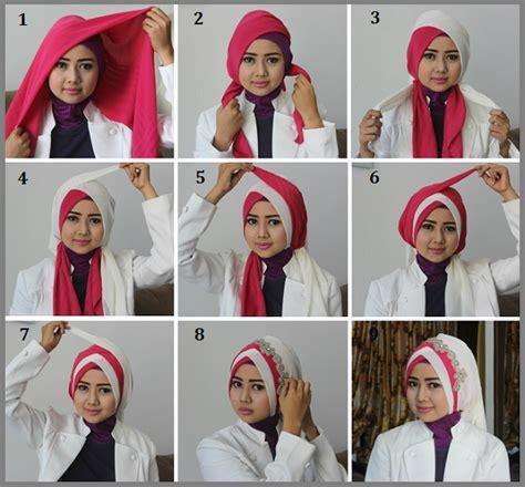 gambar model hijab wisuda wajah lonjong keren tutorial