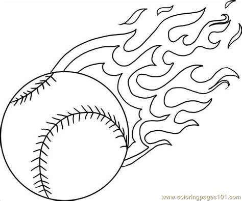 baseball with flames coloring pages coloring pages