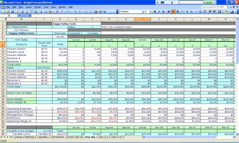 cool excel templates college budget template for excel excel
