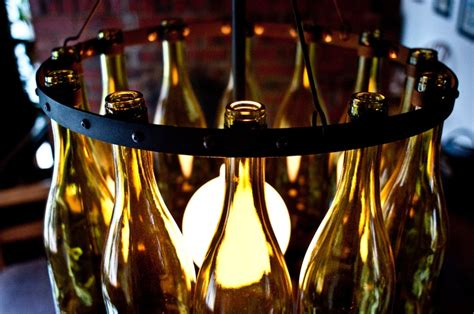 Wine Bottle Chandelier Recycled Wine Bottle Chandelier For The Home Wine Bottle Chandelier Bottle