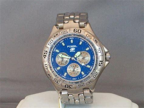 Men S Watches Fossil Bq8795 Blue Multifunction Mens