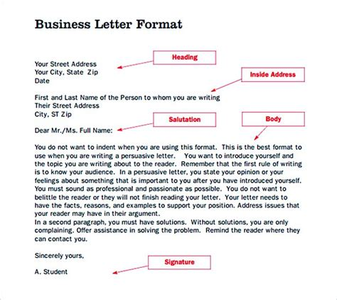 Zimsec Business Letter Format formal letter template general outline for business