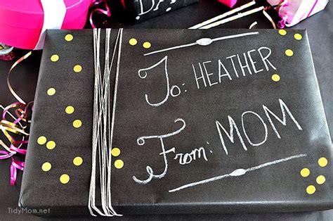diy chalkboard gift wrap diy chalkboard gift wrap tidymom 174