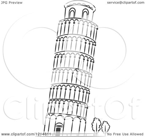leaning tower of pisa coloring page coloring pages