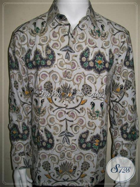Kemeja Pria Spark Lp Putih kemeja lengan panjang batik pria warna putih motif klasik wahyu tumurun elegan dan miyayeni