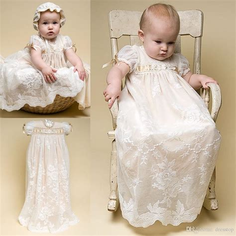 Baby Lovely Lace Dress 2018 lovely lace christening gowns for baby with sleeves christening dresses tulle