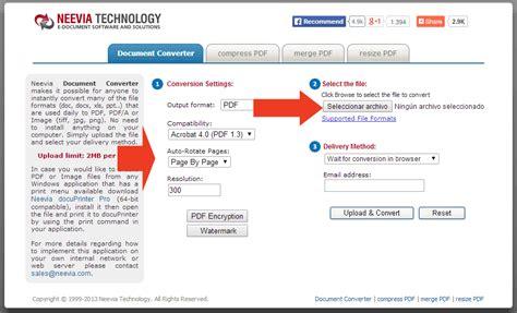 imagenes a pdf programa c 243 mo convertir im 225 genes y documentos a pdf sin instalar
