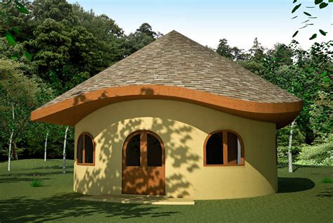 Wood House Plans by Hobbit Earthbag House Plans