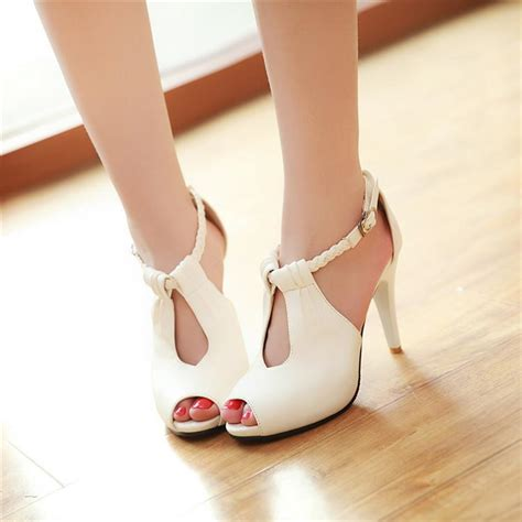sandals high heels high heeled shoes shoes color open toe