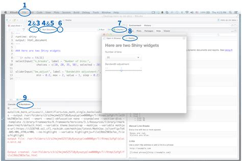 shiny r markdown integration in the rstudio ide