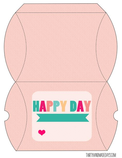 printable templates for boxes birthday box box templates pillow box template and