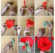 Como Fazer Rosas Gigantes De Papel Crepom  Dicas E Passo A Com