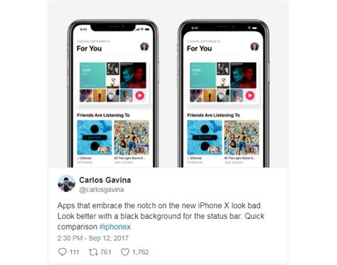 x design app a notch too far the unfortunate irony of the bezel less