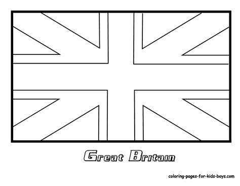 Free Coloring Pages Of England Flag Outline | free coloring pages of england flag outline