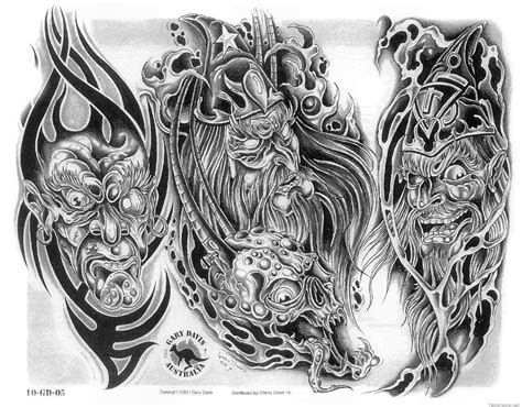 gargoyle devil mask tattoo sketch real photo pictures
