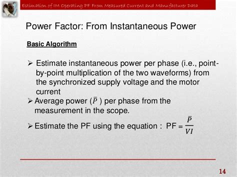xcos induction motor estimation of induction motor operating power factor
