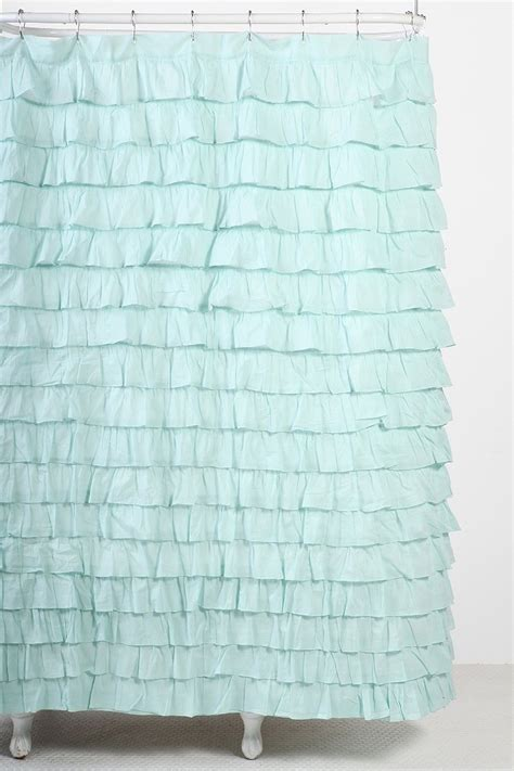 waterfall ruffle shower curtain waterfall ruffle shower curtain urban outfitters