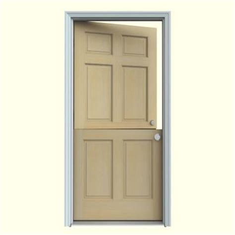 Home Depot Wood Exterior Doors Jeld Wen 32 In X 80 In 6 Panel Unfinished Hemlock Wood Prehung Front Door With