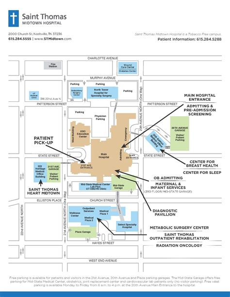 map uc health midtown 100 center floor plan maps charles george