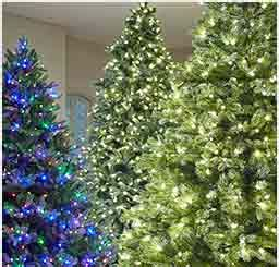 artificial christmas trees at the home depot