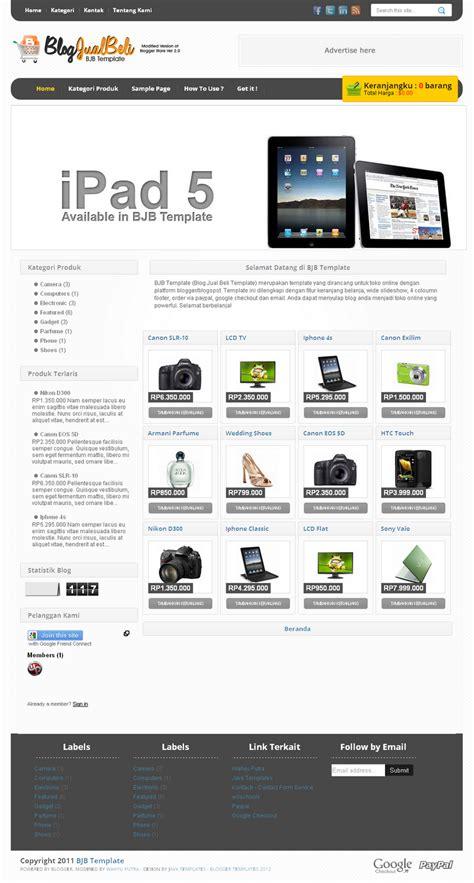 template toko online opencart bjb template template toko online blogspot dengan