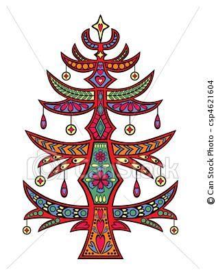 folk art christmas tree tree of life pinterest
