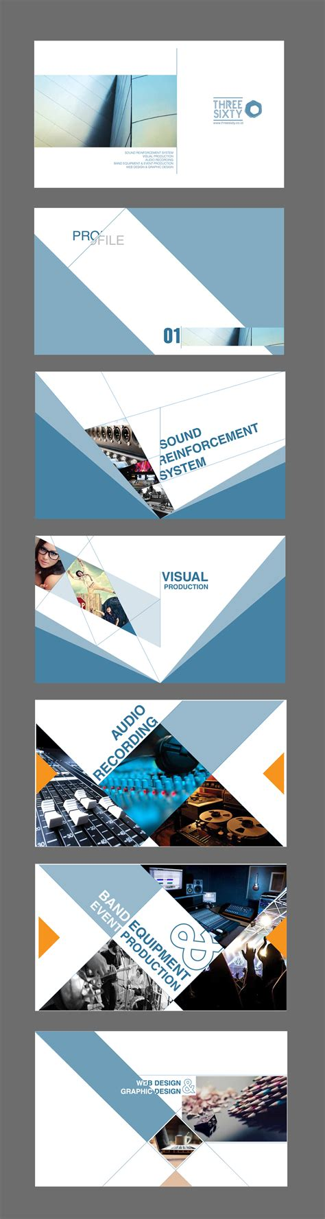 company profile layout design inspiration threesixty company profile template presentation