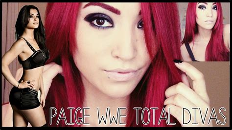 wwe paige red pubic hair paige wwe total divas makeup youtube