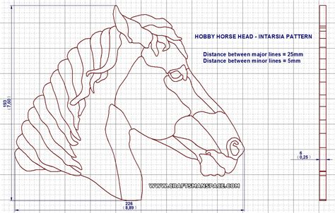 Free wooden stick horse pattern plans diy free download simple do it