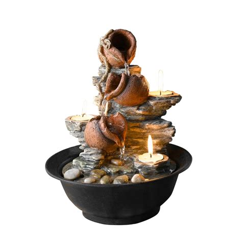 decorative water fountains for home kontiki water features decorative pot fountains tavolo